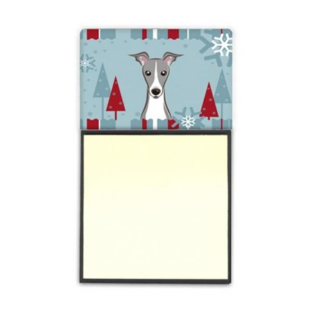 Winter Holiday Italian Greyhound Sticky Note Holder