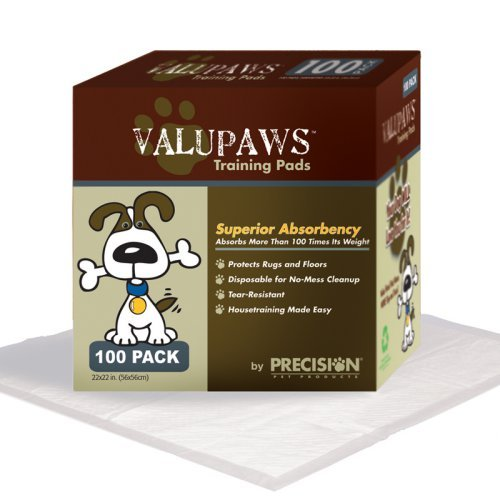 Precision ValuPaws Training Pads - 22 x 22 in. - 100 Pack
