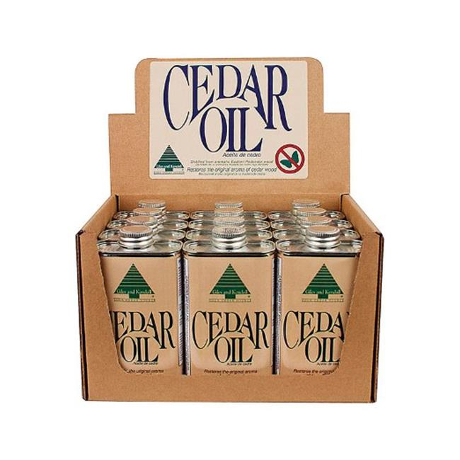 Giles & Kendall OIL12-8 8 oz Cedar Oil Can