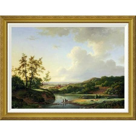 Global Gallery An Extensive Landscape By Marinus Adrianus Koekkoek Framed Painting Print