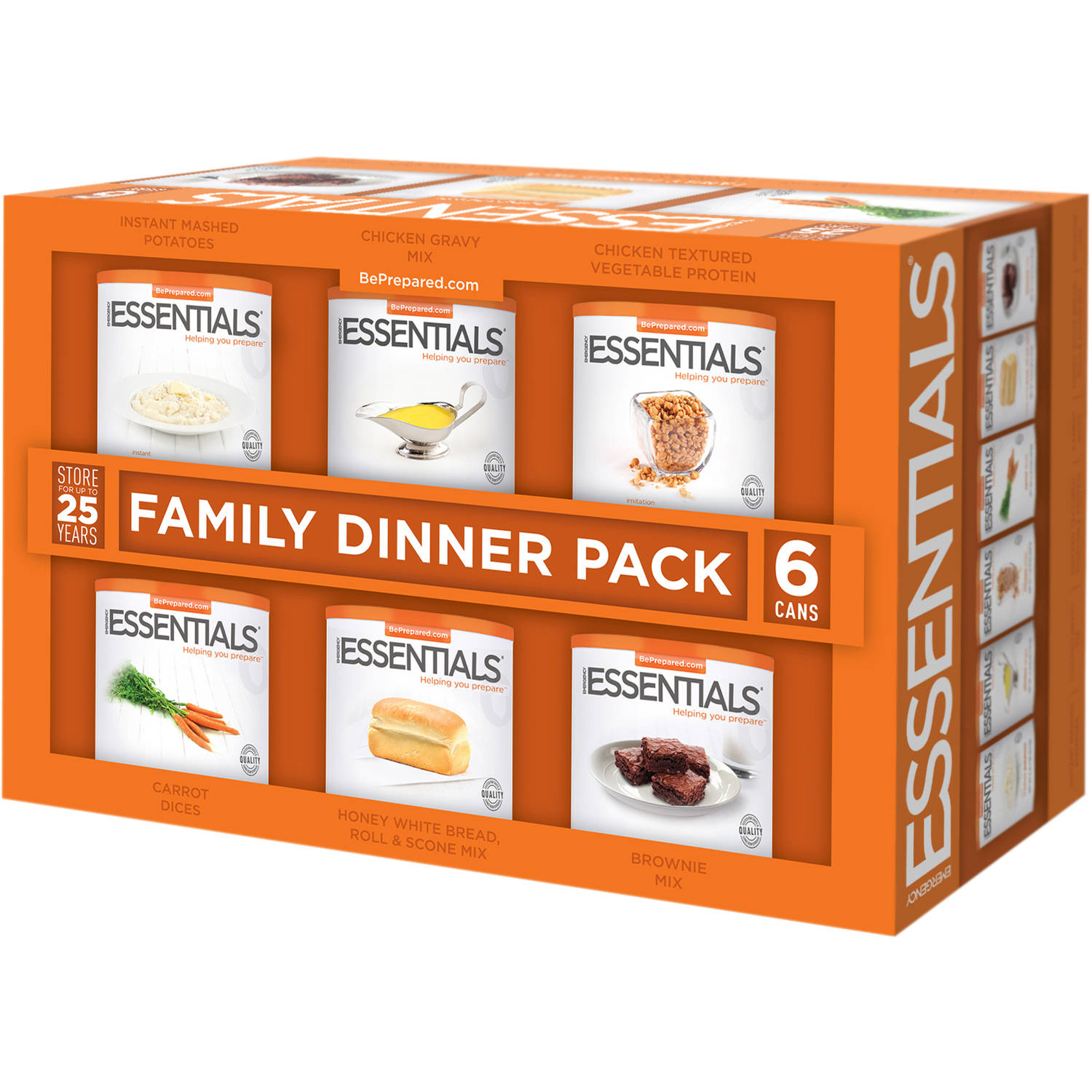 Emergency Essentials Food Family Dinner Pack, 25 lbs, 6 count