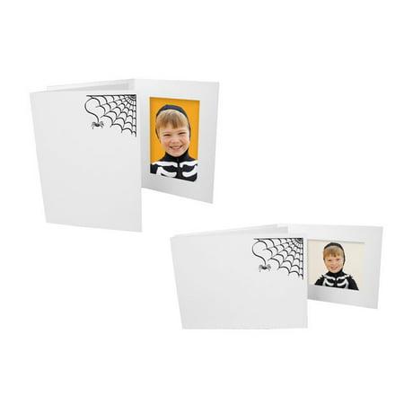 Halloween Spider Web Photo Folders For 4x6 Horizontal (25 Pack) (Action Folder Halloween)