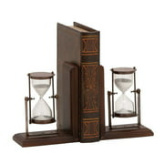 ABC Home Collection Classic Hourglass Book Ends (Set of 2)