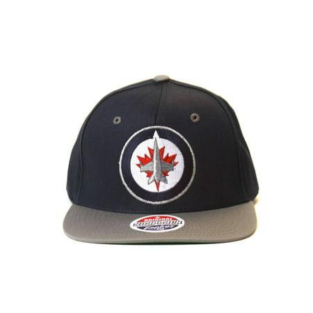 - Zephyr-NHL-Winnipeg Jets Logo Navy/Grey Snapback Hat