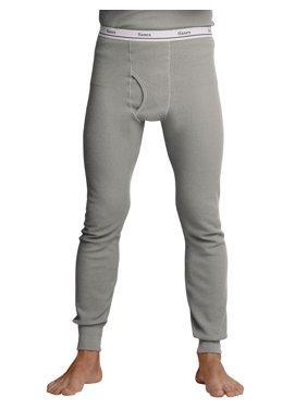 Hanes Men`s Thermal Pants, 22804, XL, Black