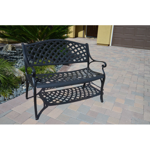 DHC Furniture Houma Cast Aluminum Garden Bench