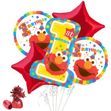 Sesame Street 1st Birthday Balloon Bouquet Kit