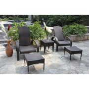 Bellini Home and Gardens Frances Wicker 5 Piece Patio Chat Set