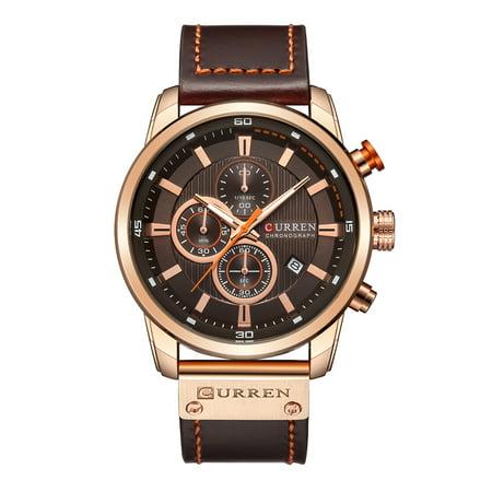 Curren Watch Quartz Wrist Analog Digital Leather Fashion Casual Business Men Sports
