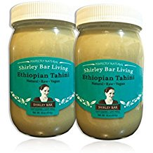 Shirley Bar Living Ethiopian Tahini, Kosher tahini dressing, Vegan tahini, Raw tahini - The Best Tasting Tahini sesame paste, amazing sauce! Pure Ground 100% Ethiopian Sesame seeds, 1 LB (2
