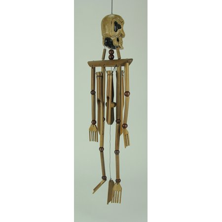 Bamboo Wood Skeleton Windchime - image 2 de 3
