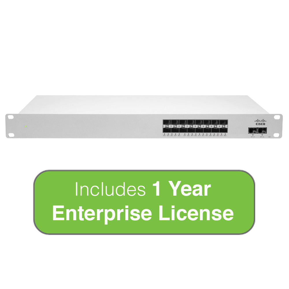 Cisco Meraki Cloud Managed MS410 Series 16-Port 1 Gigabit...