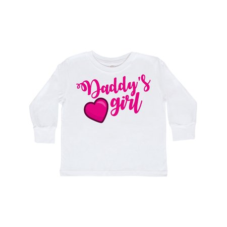 Valentine's Day Daddy's Girl with Heart Outfit Toddler Long Sleeve T-Shirt](Valentines For Girls)