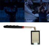 Telescopic Vehicle Inspection Mirror with LED Work Light Amplification Car Repair 360 Rotate LED Mirrors