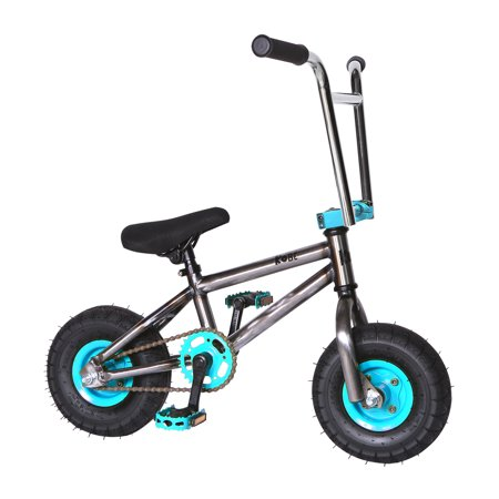 """Kobe """"Rusty Rat Rod"""" Mini BMX - Off-Road to Skate Park, Freestyle, Trick, Stunt Bicycle 10"""" Wheels for Adults and Kids - Blue - image 6 de 12"""