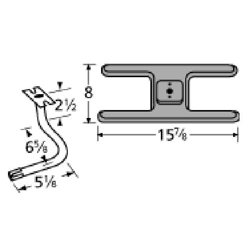 Cast Iron Burner Replacement for Select Charmglow Gas Grill Models