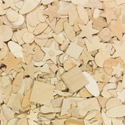 Wood Shapes 7 Designs, Pack of 1000