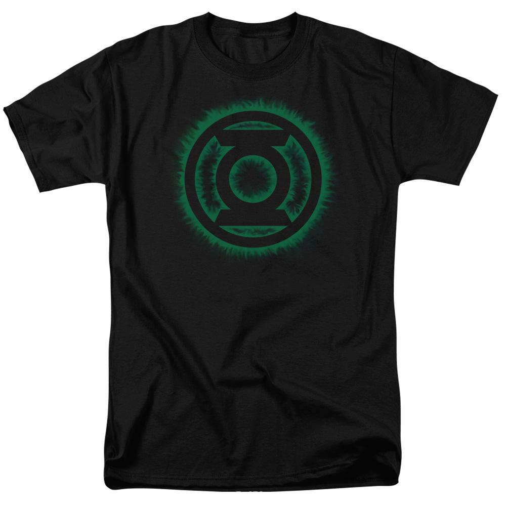 Green Lantern Green Flame Logo Mens Short Sleeve Shirt