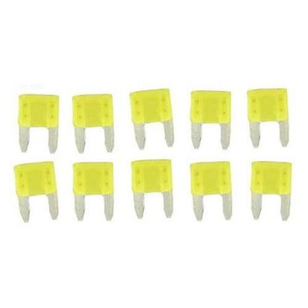 Hayward Fuse Kit, Aqua-Rite/Trol/Logic, 20AMP, Yellow, 10pk Part # - Hayward Fuse