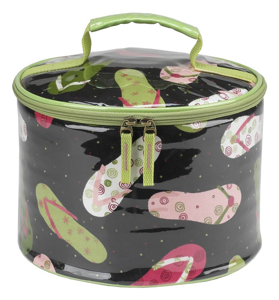 10 in. Pie and Cake Carrier in Black Flip Flop Print