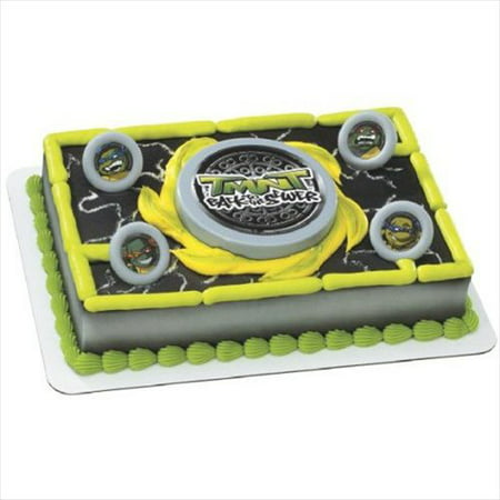 Teenage Mutant Ninja Turtles Vintage Disc Launcher Cake Topper (1ct) - Ninja Turtle Baby Shower Cake