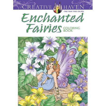 Creative haven enchanted fairies adult coloring book Coloring book for adults walmart