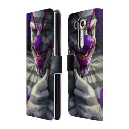 OFFICIAL TOM WOOD HORROR LEATHER BOOK WALLET CASE COVER FOR LG PHONES 1 (Clown Demon)