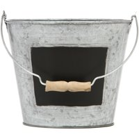 Elegant Expressions by Hosley Metal Pail with Chalkboard, 1 Each