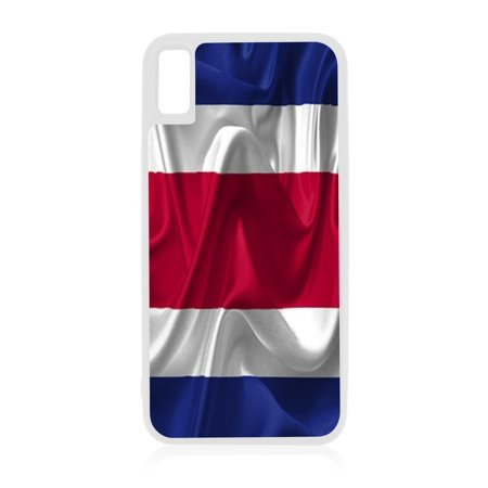 Flag Costa Rica - Costa Rican Waving Flag White Rubber Case for iPhone XR - iPhone XR Phone Case - iPhone XR - Phone Cards Costa Rica