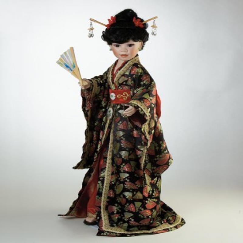 Japanese Doll, Chica, 30″ Porcelain Asian Doll (Artist: D...