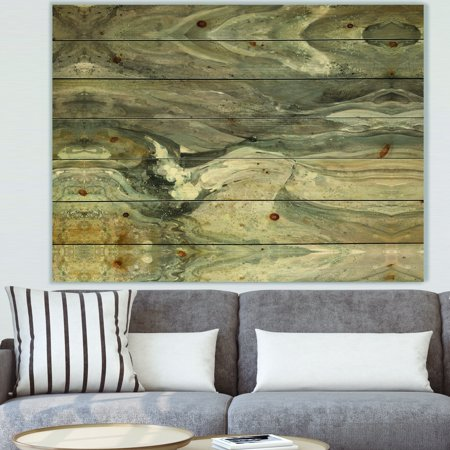 DESIGN ART Designart 'Natural earth tone' Modern & Contemporary Print on Natural Pine Wood - Grey