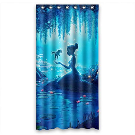 Ganma Cartoon Princess and the Frog Shower Curtain Polyester Fabric Bathroom Shower Curtain 60x72 inches ()