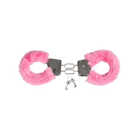 Valentines Day Pink Fuzzy Furry Lovers Handcuffs