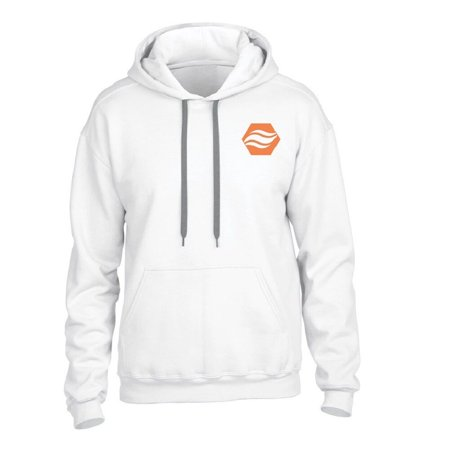 Stay Warm Apparel Heated Hoodie With Rechargeable Battery - White - L/XL