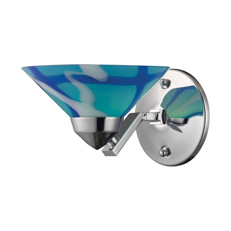 Refraction -1 Light Wall Sconce Polished Chrome