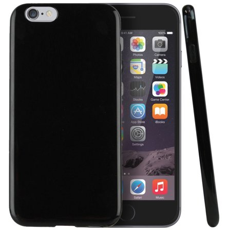 Apple iPhone 6 Plus Case, [Black] Slim & Flexible Anti-shock Crystal Silicone Protective TPU Gel Skin Case Cover (Black Iphone 6 Case)