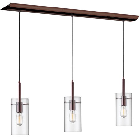Dainolite 3 Light Vintage Island Pendant - Oil Brushed Bronze