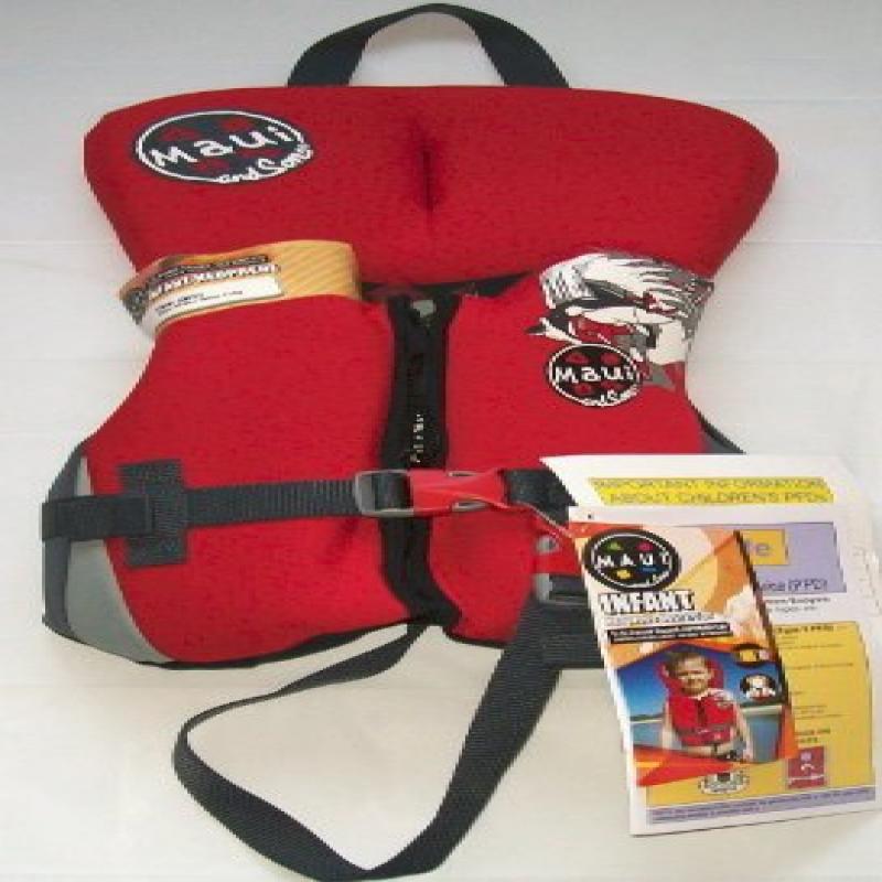 Infant Neoprene Life Vest Red/Maui And Sons Life Vest