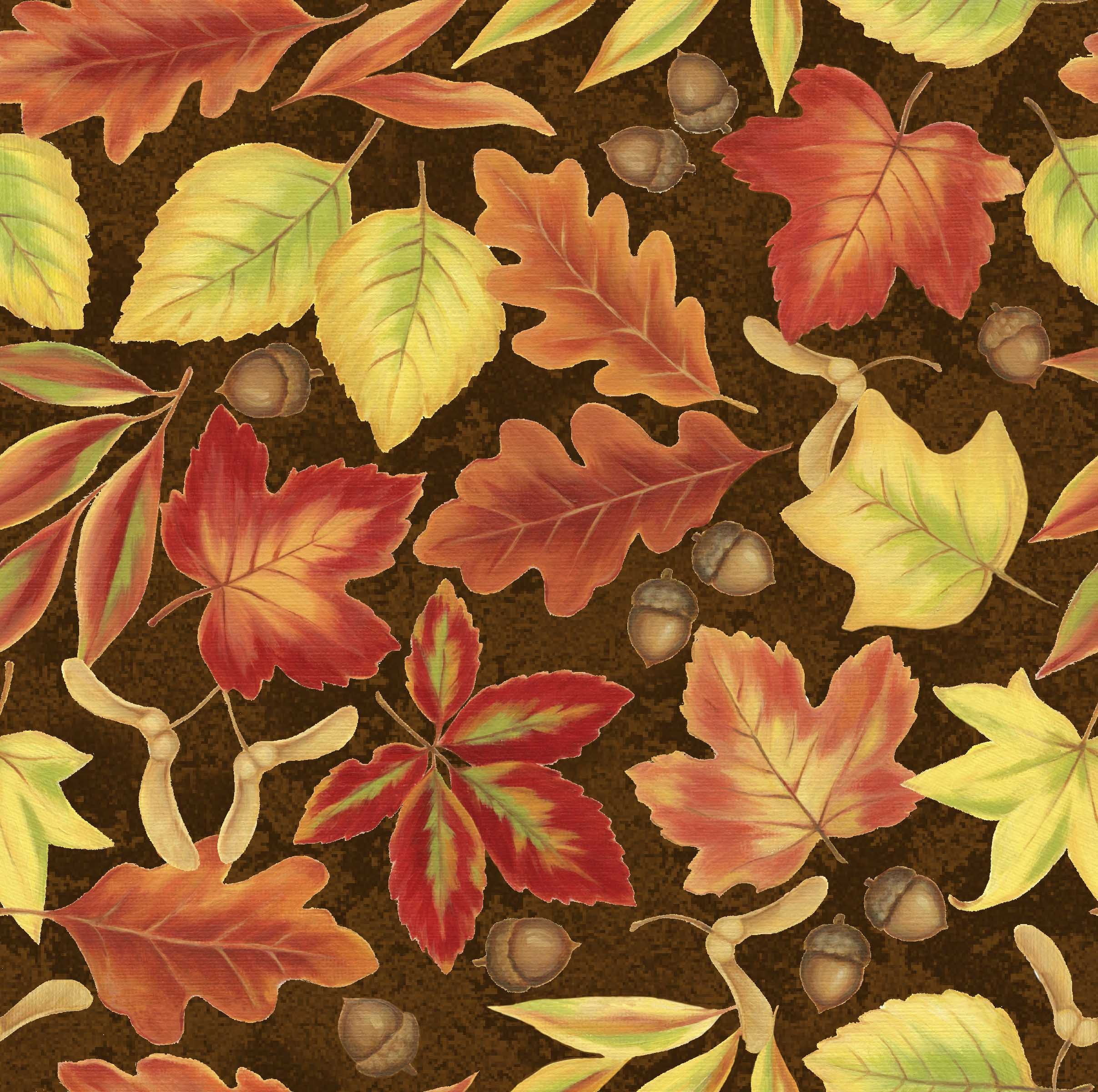 FABRIC EDITIONS, COTTON FABRIC, FAT QUARTER, 18X21, HARVEST FOLIAGE