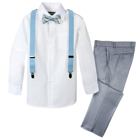 Spring Notion Boys' 4-Piece Patterned Dress up Pants Set - Dress Up Clothes For Boy