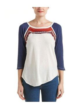 18d5f456 Product Image Free People Womens Ritu Embellished T-Shirt cream S