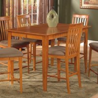 Leo & Lacey Counter Height Pub Dining Table in Caramel Latte - 42 x 60 Butterfly Table