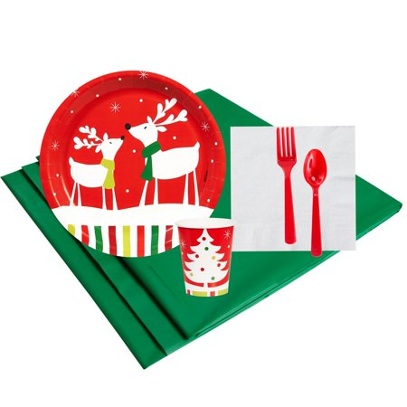 Reindeer Christmas Party 16 Guest Party Pack (Xmas Party Supplies)