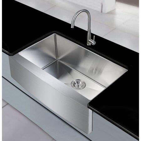 Dcor design sycamore 36 39 39 x 21 39 39 farmhouse apron kitchen sink - Walmart kitchen sinks ...