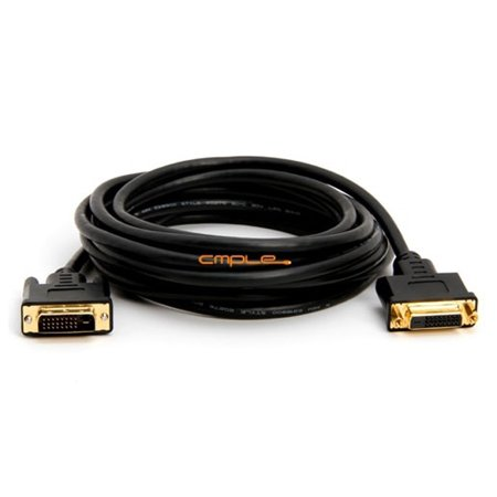 Cmple Computer Video And Audio Electronics Accessories DVI D Dual Link Extension MF Cable - 15 Feet Gold (Personal Audio Link)