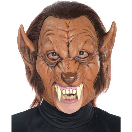 Werewolf 3/4 Latex Mask Adult Halloween Accessory