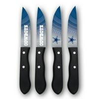 Dallas Cowboys Woodrow 4-Piece Stainless Steel Steak Knife Set