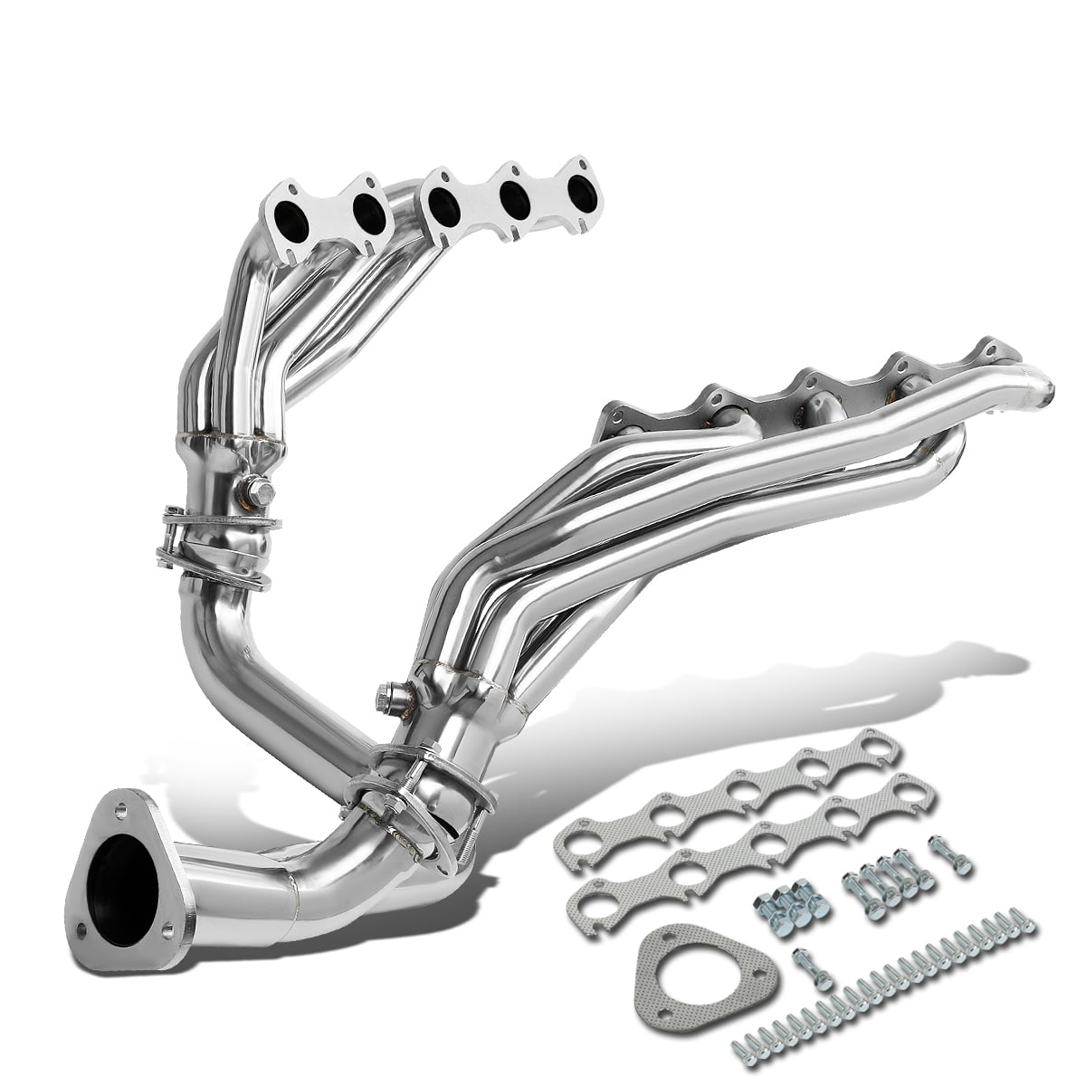 For 1999 To 2004 Ford F250 F350 Super Duty 6 8l V10 Stainless Steel Mid Length Exhaust Header Manifold W Y Pipe Walmart Com Walmart Com