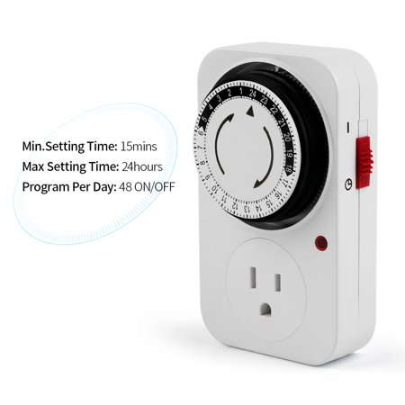 24 Hours Plug-in Mechanical Timer Programmable Mini Timer Switch Smart Countdown Switch Socket Socket - image 5 of 7
