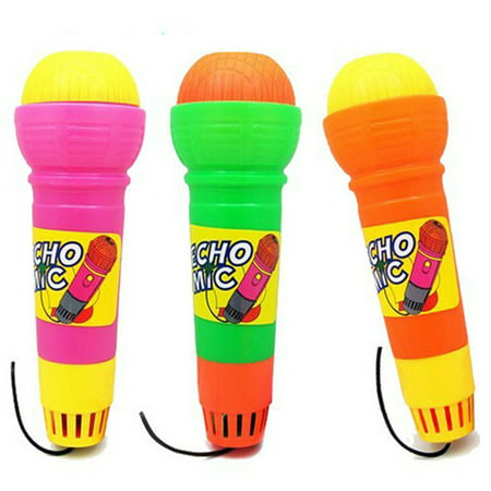 Plastic Magic Mic Novelty Echo Microphone Pretend Play Toy Gift for Children Random Color - Kids Echo Microphone